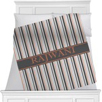 Gray Stripes Minky Blanket (Personalized)