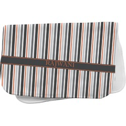 Gray Stripes Burp Cloth (Personalized)
