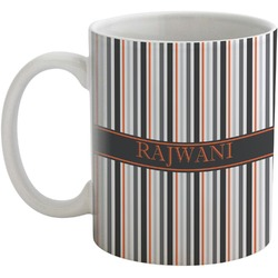 Gray Stripes Coffee Mug (Personalized)
