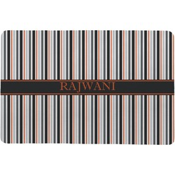 Gray Stripes Comfort Mat (Personalized)