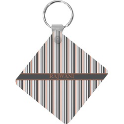 Gray Stripes Diamond Key Chain (Personalized)