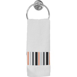 Gray Stripes Hand Towel (Personalized)