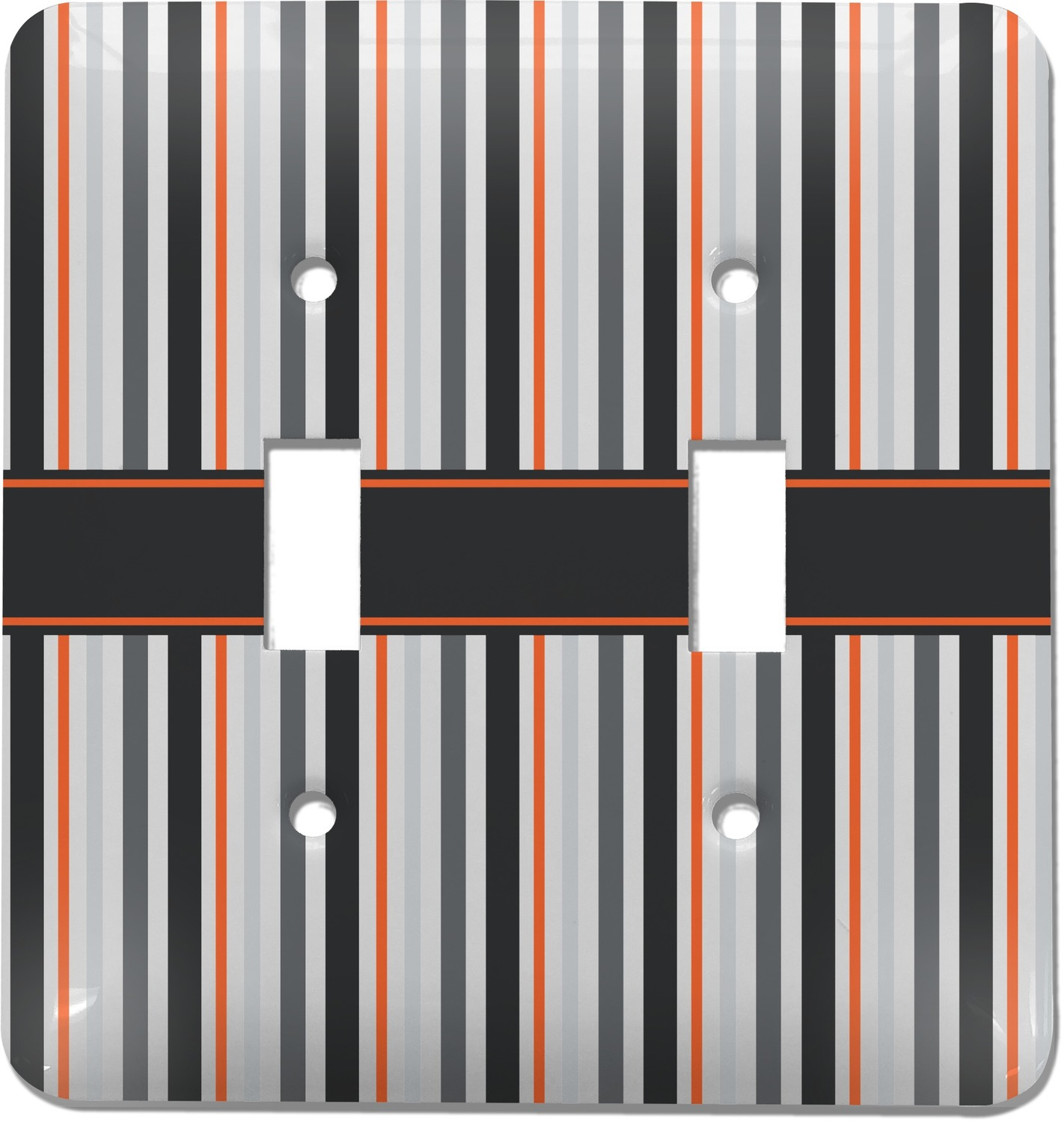 Gray Stripes Light Switch Cover (2 Toggle Plate) (Personalized ...
