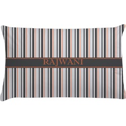 Gray Stripes Pillow Case (Personalized)