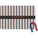 Gray Stripes Rectangular Fridge Magnet (Personalized)