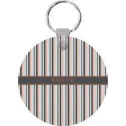 Gray Stripes Keychains - FRP (Personalized)