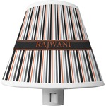 Gray Stripes Shade Night Light (Personalized)