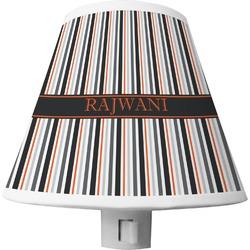 Gray Stripes Shade Night Light (Personalized)