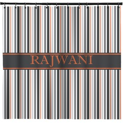 Gray Stripes Shower Curtain (Personalized)