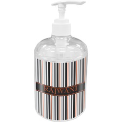 Gray Stripes Soap / Lotion Dispenser (Personalized)