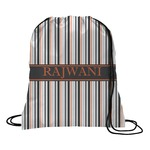 Gray Stripes Drawstring Backpack (Personalized)