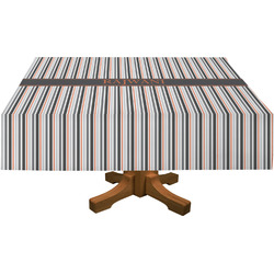 Gray Stripes Rectangle Tablecloth (Personalized)