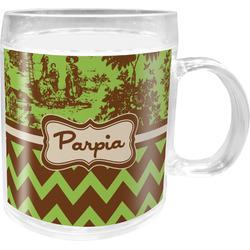 Green & Brown Toile & Chevron Acrylic Kids Mug (Personalized)
