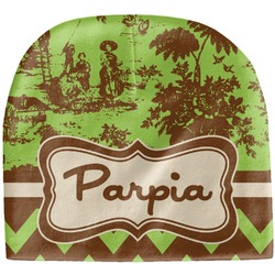 Green & Brown Toile & Chevron Baby Hat (Beanie) (Personalized)