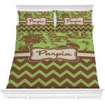 Green & Brown Toile & Chevron Comforters (Personalized)