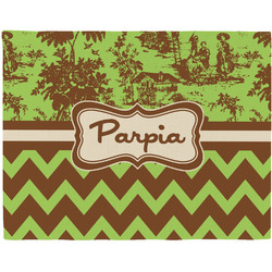 Green & Brown Toile & Chevron Placemat (Fabric) (Personalized)