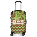 Green & Brown Toile & Chevron Suitcase (Personalized)
