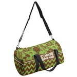 Green & Brown Toile & Chevron Duffel Bag - Multiple Sizes (Personalized)