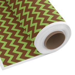 Green & Brown Toile & Chevron Custom Fabric by the Yard (Personalized)