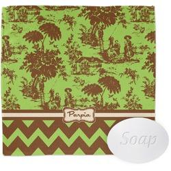 Green & Brown Toile & Chevron Wash Cloth (Personalized)