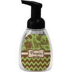 Green & Brown Toile & Chevron Foam Soap Dispenser (Personalized)