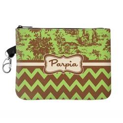 Green & Brown Toile & Chevron Golf Accessories Bag (Personalized)