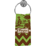 Green & Brown Toile & Chevron Hand Towel - Full Print (Personalized)