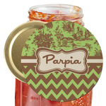 Green & Brown Toile & Chevron Jar Opener (Personalized)