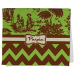 Green & Brown Toile & Chevron Kitchen Towel - Full Print (Personalized)