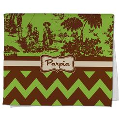 Green & Brown Toile & Chevron Kitchen Towel - Full Print (Personalized)