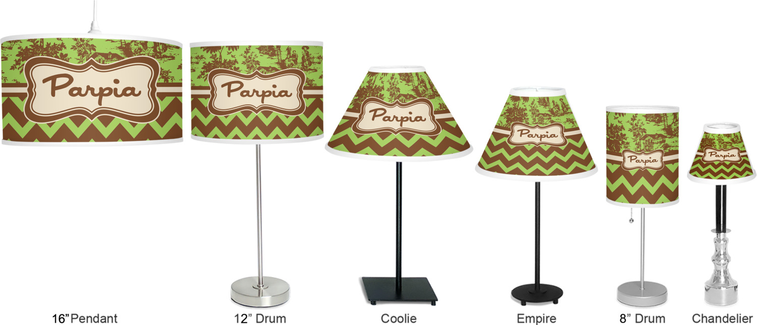 green brown toile chevron drum lamp shade polyester. Black Bedroom Furniture Sets. Home Design Ideas