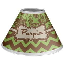 Green & Brown Toile & Chevron Coolie Lamp Shade (Personalized)