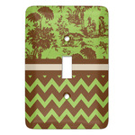 Green & Brown Toile & Chevron Light Switch Covers (Personalized)