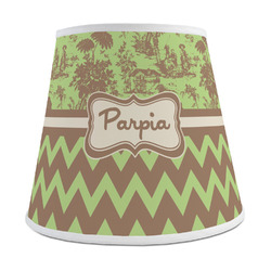Green & Brown Toile & Chevron Empire Lamp Shade (Personalized)