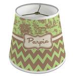 Green & Brown Toile & Chevron Empire Lamp Shade (Personalized)