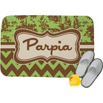 Green & Brown Toile & Chevron Memory Foam Bath Mat (Personalized)
