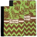 Green & Brown Toile & Chevron Notebook Padfolio w/ Name or Text