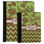 Green & Brown Toile & Chevron Padfolio Clipboard (Personalized)