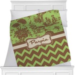Green & Brown Toile & Chevron Blanket (Personalized)