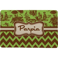 Green & Brown Toile & Chevron Comfort Mat (Personalized)