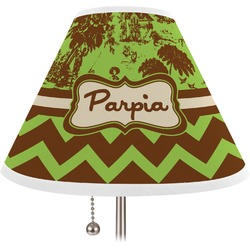 Green & Brown Toile & Chevron Lamp Shade (Personalized)