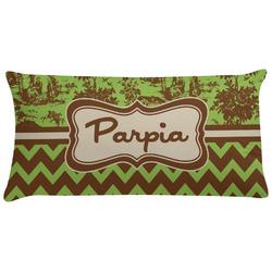 Green & Brown Toile & Chevron Pillow Case (Personalized)