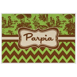 Green & Brown Toile & Chevron Placemat (Laminated) (Personalized)
