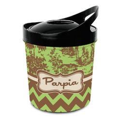 Green & Brown Toile & Chevron Plastic Ice Bucket (Personalized)