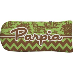 Green & Brown Toile & Chevron Putter Cover (Personalized)