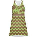 Green & Brown Toile & Chevron Racerback Dress (Personalized)