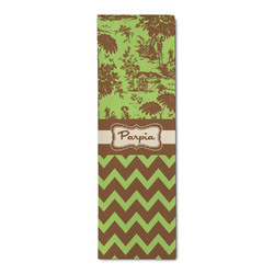 Green & Brown Toile & Chevron Runner Rug - 3.66'x8' (Personalized)