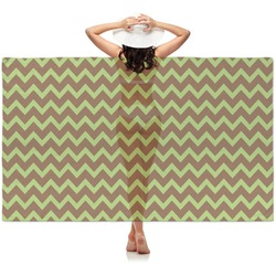 Green & Brown Toile & Chevron Sheer Sarong (Personalized)