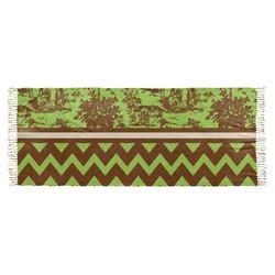 Green & Brown Toile & Chevron Faux Pashmina Scarf (Personalized)