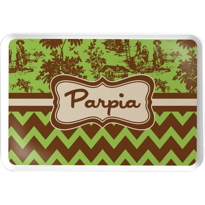 Green & Brown Toile & Chevron Serving Tray (Personalized)